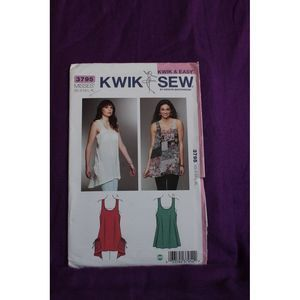 Kiwi Sew Pattern 3795 Women's highlow tank